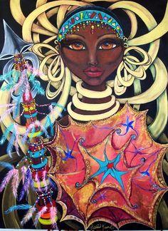 African Goddess - Black art | African American art