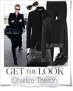 """""""Get The Look - Charlize Theron"""" by renatademarchi ❤ liked on Polyvore"""