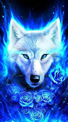 Fantasy/Wolf Wallpaper ID: 722859 - Mobile Abyss Cute Animal Drawings, Cute Drawings, Wolf Drawings, Anime Animals, Cute Animals, Galaxy Wolf, Wolf Artwork, Wolf Painting, Fantasy Wolf