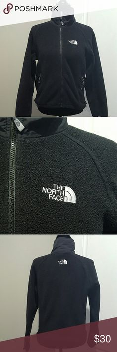 Women's black North Face fleece jacket, XS Women's black North Face fleece jacket, size xs. No stains or tares, but the fuzzies are just crazy on the jacket. Word to the wise.  Remove the bag of kleenex before you wash ur coats :( North Face Jackets & Coats