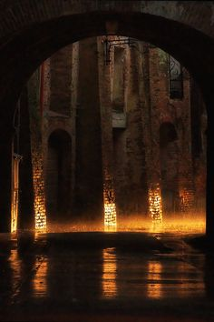 Flaming Rain in Montepulciano, Tuscany