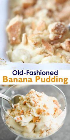 Banana Pudding Desserts, Homemade Banana Pudding, Best Banana Pudding, Banana Recipes, Banana Pudding Custard Recipe, Easy Banana Desserts, Classic Banana Pudding Recipe, Vanilla Wafer Banana Pudding, Banana Pudding Ingredients
