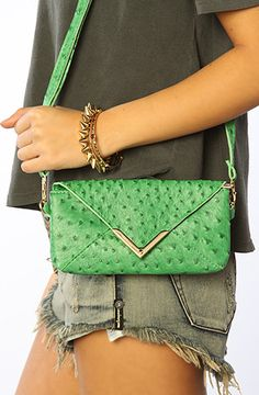 The Lucky Lizard Clutch in Green by *Accessories Boutique #MissKL and #SpringtimeinParis