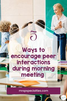Use the tips in this blog post to get students talking to each other during morning meeting. By encouraging peer interactions, you build in extra practice for students to work on communication and social skills. These 5 simple ways to boost conversations are ideal for autism classes, self-contained programs, TEACCH, life skills and other special education setting. Click to read the tips to get your students talking to each other now! Classroom Behavior, Classroom Ideas, Morning Meeting Activities, Teaching Special Education, Teacher Helper, Special Needs Students, Learning Time, Speech And Language, Social Skills