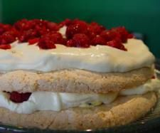 Passionfruit Raspberry Dacquoise