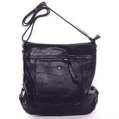 #crossbody #Delami #Vivienne Elegantní crossbody kabelka pro každý den od Delami 2016/2017! Černá dámská kabelka přes rameno nebo crossbody s děleným vnitřkem a pevným dnem. Popruh je nastavitelný, kabelku tak snadno dáte jako crossbody přes hlavu. Na přední i zadní straně je kapsa na zip. Uvnitř jsou další menší kapsičky na drobnosti. Pořiďte si tuto moderní měkkou kabelku, se kterou budete vždy in. Cross Body, Bags, Fashion, Purses, Moda, Fashion Styles, Taschen, Totes, Hand Bags