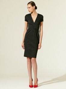 Woven Brocade V-Neck Dress by Zac Posen at Gilt