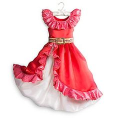 This is the OFFICIAL Disney Store Elena of Avalor Dress up costume! Elena of Avalor dress up lovers will want THIS dress for Christmas! Princess Elena Of Avalor, Princess Dress Up, Disney Princess Dresses, Disney Princess Costumes, Disney Costumes, Costume Shop, Costume Dress, Red Dresses For Kids, Red Satin Dress