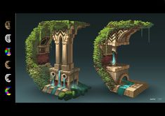 Welcome to the Concept Thread for the next Monthly Environment / Prop Challenge! Casa Medieval Minecraft, Minecraft Castle, Minecraft Plans, Minecraft Blueprints, Cool Minecraft, Minecraft Crafts, Architecture Minecraft, Minecraft Buildings, Lego Disney