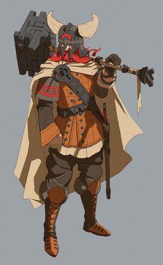 Nordic viking character