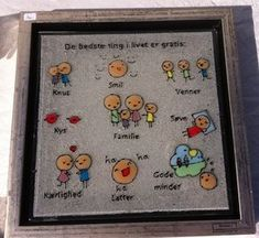 Smukke og kloge ord My Glass, Life Inspiration, Fused Glass, Diy And Crafts, Doodles, Bullet Journal, Drawings, Frame, Home Decor