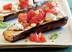 Grilled Eggplant, Tomato and Goat Cheese Recipe [Vegetarian & Gluten Free]