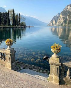 Peaceful scene 🍃 Garda Lake, the largest lake in Italy - .-- Peaceful scene 🍃 Garda Lake, the largest lake in Italy – Resorts, Wonderful Places, Beautiful Places, Riva Del Garda, Garda Italy, Big Lake, Landscaping Images, Ice Climbing, Seen
