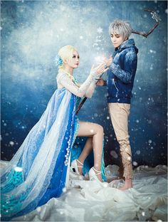 Last winter Frozen stole hearts across the world. We are so completely smitten with these Elsa and Jack Frost (from Rise of the Guardians) costumes, they fit perfectly together! This magical shoot was captured by Lento, see more here. If you need some fake snow to complete your costume learn a super quick method here.