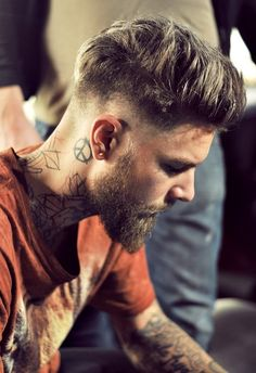 mens hair and beard