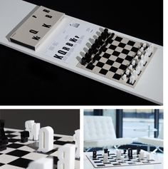 A typographic chess set by Hat Trick