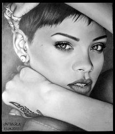Rihanna Drawing by diamondnura.deviantart.com on @deviantART