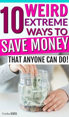 These are such great ideas! You NEED to check out these crazy ways to save money! But they aren't too weird. They are all really great ideas for places that you'd never thought of to save money! Great frugal living tips and tricks to try out for yourself Best Money Saving Tips, Money Tips, Saving Money, Money Plan, Money Hacks, Saving Time, Save Money On Groceries, Ways To Save Money, How To Make Money