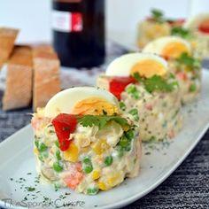 Potato salad recipe, get this easy Spanish Tapas recipe, a variation of the Olivier potato salad