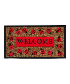 Ladybug 'Welcome' Doormat