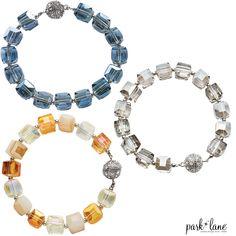 Foursquare Bracelet now in 3 colors! #parklanejewelry