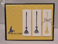 Get the broom - it's almost Halloween! Stampin' Up!, Tee Hee Hee, card, paper, scrapbook, craft, make, DIY, homemade, make it Monday, dynamic duos, stampin' duos, create, rubber, stamps, card making