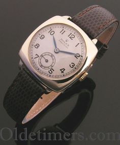 1930s 9ct gold cushion vintage Rolex Precision watch (3878)