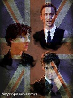 Top 3 favorite British actors!  Tom Hiddleston, Benedict Cumberbatch and David Tennant.