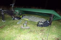 It works, very nice! Bike bivvy setup 2