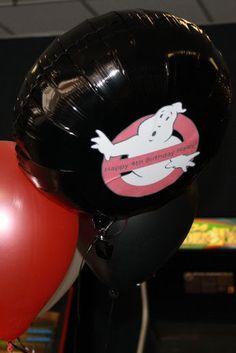 Put Ghostbuster logo on black mylar balloons. Ghostbusters Theme, Ghostbusters Birthday Party, Star Wars Birthday, Boy Birthday, Birthday Ideas, 6th Birthday Parties, 30th Party, Party Themes, Party Ideas