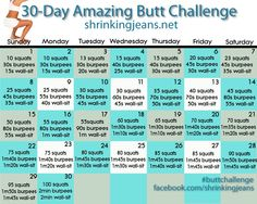 30 Day Amazing Butt Challenge #Health #Fitness #Trusper #Tip