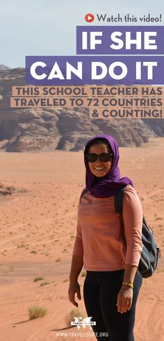 Meet Andrea, a school teacher who's traveled to 72 countries and counting! She doesn't come from a wealthy family and her work doesn't pay for her to travel. So what's her secret? #travel #solofemaletravel #worldtravel #travelislife
