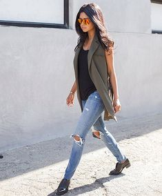 Love a vest for Spring! // Follow @ShopStyle on Instagram to shop this look