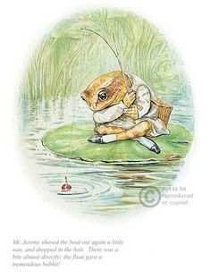 'Jeremy Fisher Dropped In The Bait' by Beatrix Potter