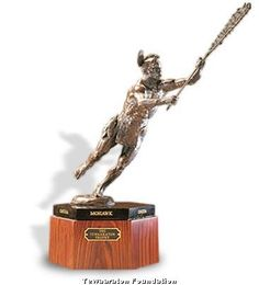 The Tewaaraton Award is a beautiful trophy, and I liked that the hexagonal base is a hat tip to the Six Nations. (Most trophies, especially the NCAA trophies, are super-ugly.)