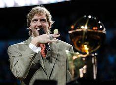 Dirk Nowitzki shows off his ring!