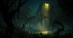 Swamp Adversaries , Jonathan Guzi on ArtStation at https://www.artstation.com/artwork/swamp-adversaries