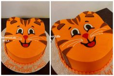 It's Daniel Tiger!!  (Tiger themed cake by The Sweet Life Bakery New Orleans www.nolasweetlife.com email info@nolasweetlife.com (504)371-5153 #nolasweetlife)