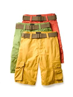 WOW factor: Colorful Cargos. bar III #mens #shorts #fashion BUY NOW!