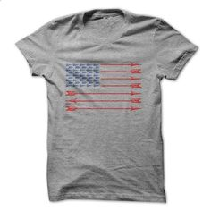 Bow Hunters American Flag - #photo gift #shirt for women. SIMILAR ITEMS =>…