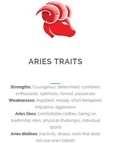 Aries Traits ;-)~❤~