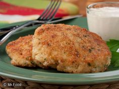 Cheesy Chicken Croquettes | mrfood.com:uses canned chicken