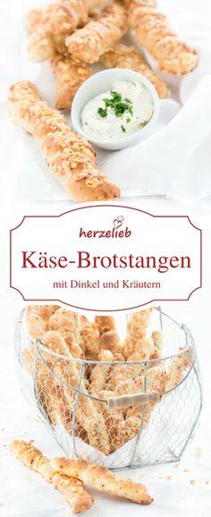 Brot Rezepte: Zum Grillen, zur Party oder zum Dip fantastisch. Mit diesem Rezept backst du leckere Brotstangen mit Dinkel und Kräutern.