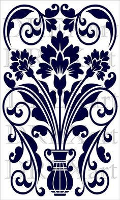 Damask Stencil, Stencil Patterns, Stencil Art, Stencil Designs, Stencil Walls, Wall Stenciling, Laser Cut Stencils, 3d Laser, Glass Design