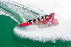 Exhilarating jet boat ride combining adrenaline pumping high-speed manoeuvre's, arcing fishtails, spins and power brakes Jet Boat, Fun Adventure, Amazing Adventures, Pumping, Auckland, High Speed, New Zealand, Knots, Tourism