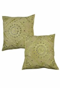 ($10.00) Home Furnishing Cotton Cushion Covers with Hand Embroidery