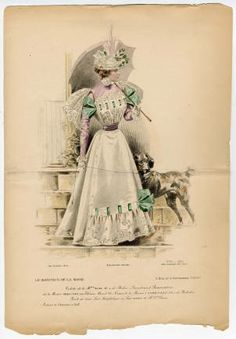 "1895-1898, Plate 113. Fashion plates, . The Costume Institute Fashion Plates. The Metropolitan Museum of Art, New York. Gift of Woodman Thompson (b17520939) | ""Le Moniteur de la Monde"" #fashion"
