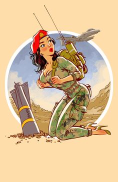 USMilPin is raising funds for US Military Pinups' Global War on Terrorism Playing Cards on Kickstarter! I am creating the sexiest pin-up deck of cards, depicting all five branches of the modern U. Pin Up Girl Vintage, Retro Pin Up, Pinup Art, Comic Kunst, Comic Art, Pin Up Zeichnungen, Pin Up Kunst, Pin Up Drawings, Airplane Art