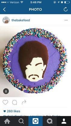 Prince cake Birthday Bash, Birthday Party Themes, Girl Birthday, Birthday Cakes, Prince Cake, Prince Party, Rain Cake, Prince Purple Rain, Prince Rogers Nelson