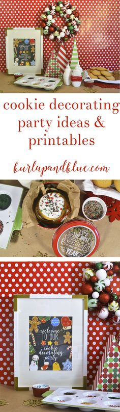 need a fun and easy kids Christmas party idea? This cookie decorating party features ideas, printables, and more!